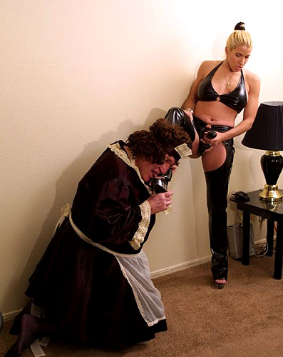 Sissy strapon torture