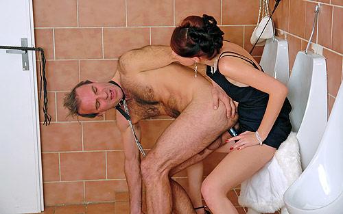 Toilet Strapon Torture