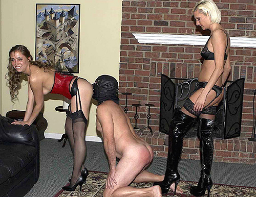 Stockings Strapon Mistresses