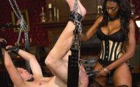 Ebony Strapon Torture